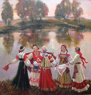 Як намалювати російський народний