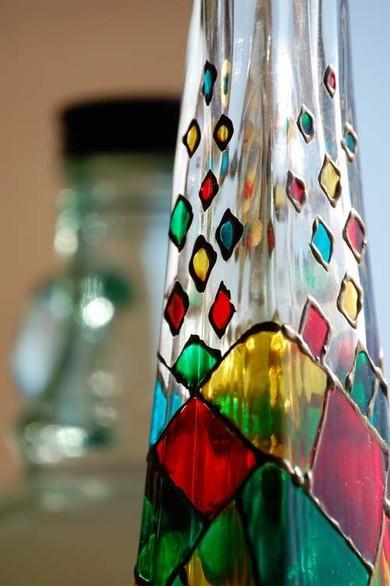 Як зробити декоративні пляшки