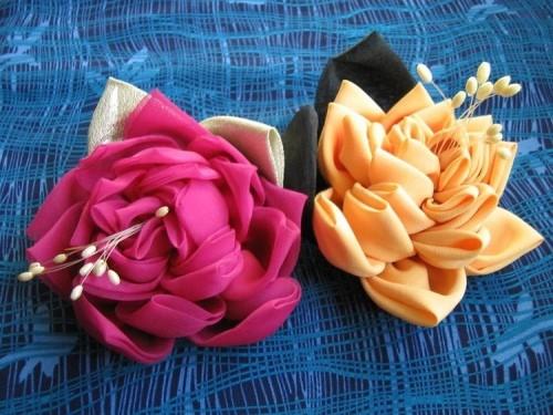 Як зшити квітку з тканини