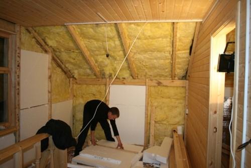 Как сделать перегородку деревенский дом