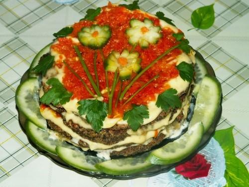 Украшение тортов пирогов и салаты с фото