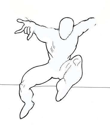 Щоб намалювати людини павука зробіть