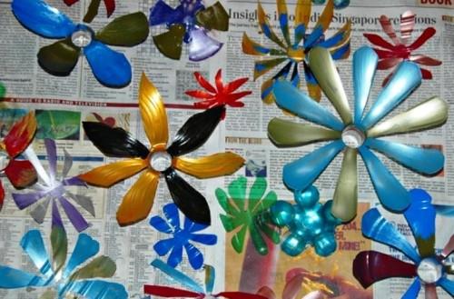 Як зробити квіти з пластикових пляшок