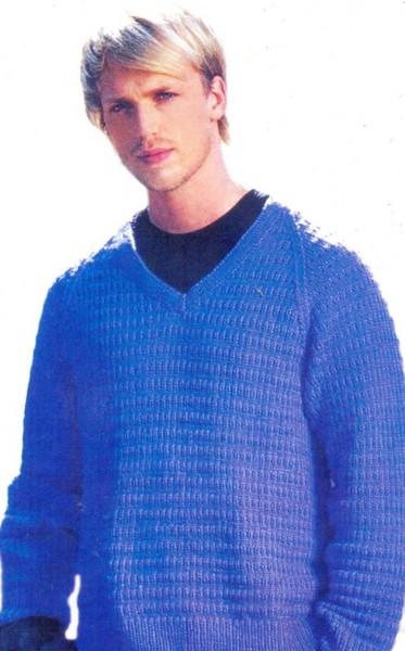 Вязание мужской свитер техника