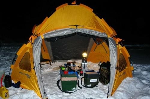 обогрев в палатке для рыбалки
