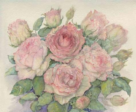 Як намалювати троянду фарбами